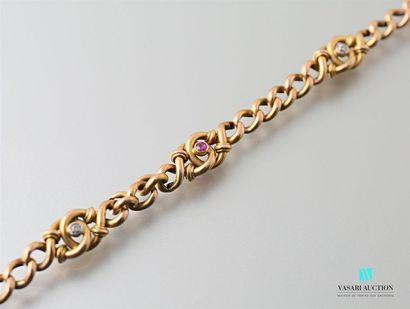 Bracelet souple vers 1900 en or 750 millièmes,...