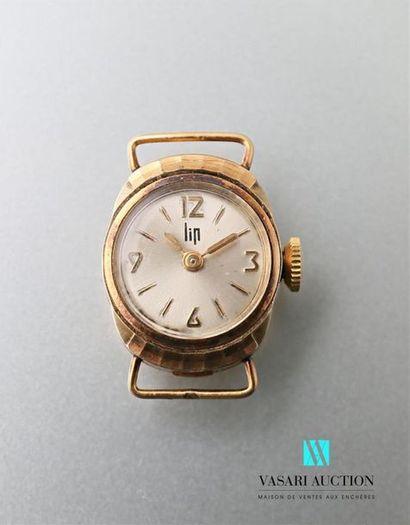 Boitier de montre en or jaune 750 millièmes,...
