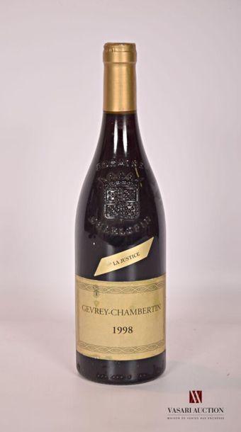 1 bouteilleGEVREY CHAMBERTIN
