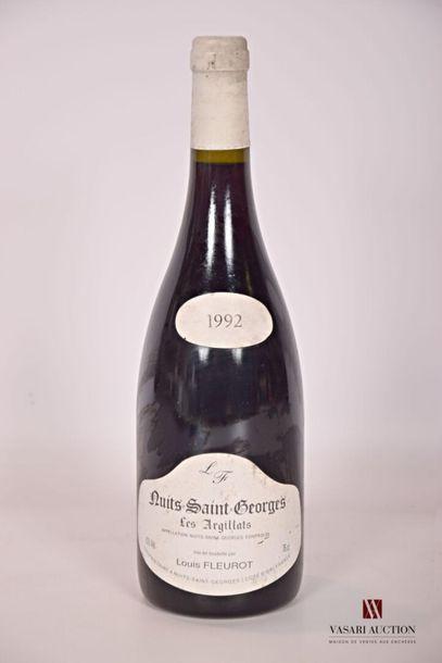 1 bouteilleNUITS SAINT GEORGES Les Argillats...