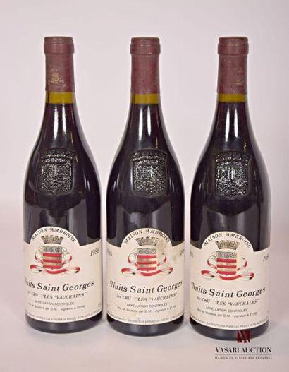 3 bouteillesNUITS SAINT GEORGES 1er Cru...