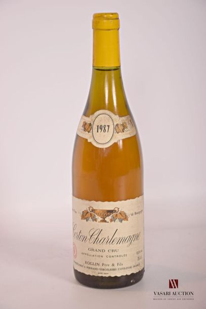 1 bouteilleCORTON CHARLEMAGNE GC mise Rollin...
