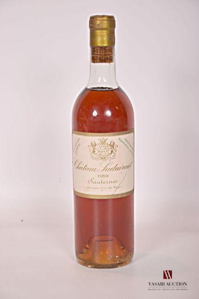 1 bouteilleChâteau SUDUIRAUTSauternes 1er...