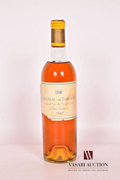 1 bouteilleCH. DE FARGUESSauternes GCC1967...