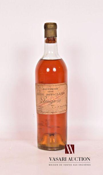 1 bouteilleCLOS RIPAILLESSauternes1945...