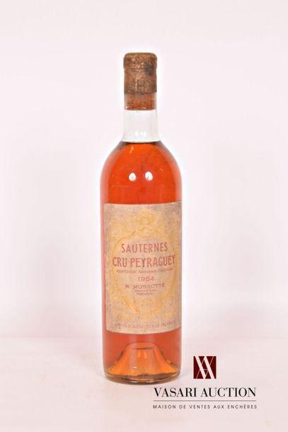1 bouteilleCRU PEYRAGUEYSauternes1964...