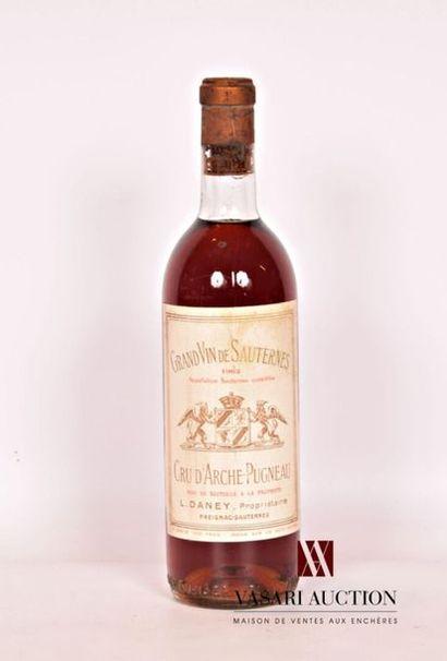 1 bouteilleCRU D'ARCHE PUGNEAUSauternes1962...