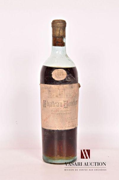 1 bouteilleChâteau MERCIERHaut Barsac Sauternes1947...