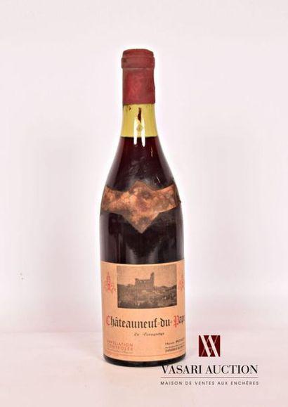 1 bouteilleCHATEAUNEUF DU PAPE