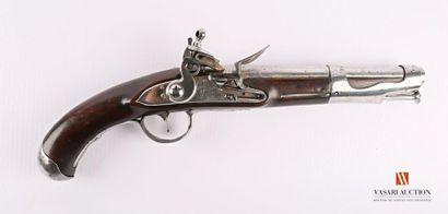Pistolet modèle 1763, platine à silex signée...