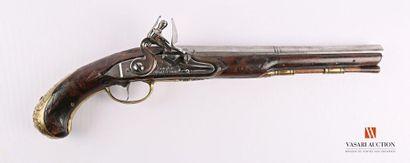 Pistolet d'officier à silex, signé Thomson...
