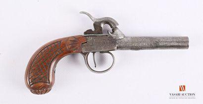 Pistolet à coffre, canon rond de 7 cm, calibre...