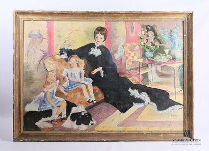 École française du XXème siècle Jeune femme...