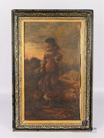 PICOU Eugène Charles (1831-1914) Jeune femme...