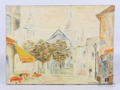 DESBOUCHES (XXème siècle) Vue de Montmartre...