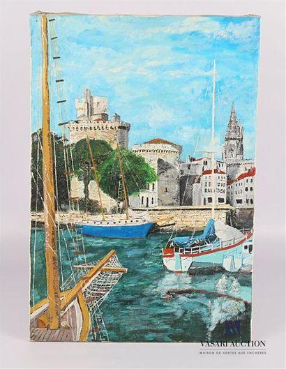 BENOIT Claude (XXème siècle) Port de la Rochelle...