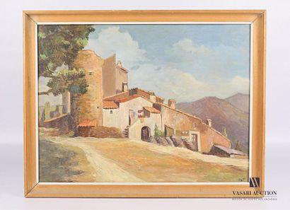 LIBY (XXème siècle) Village provençale Huile...