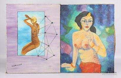 HITHART Isabelle (XXème siècle) Femme orientale...