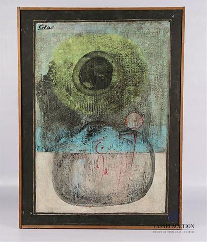 GTAZ (XXème siècle) Composition abstraite...