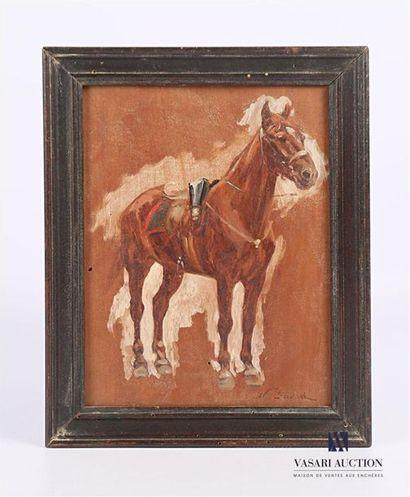 SICAR Nicolas (1840-1920) Etude de cheval...