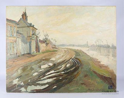ANDREPETIT Henri (1912-2000) Chemin de hallage...