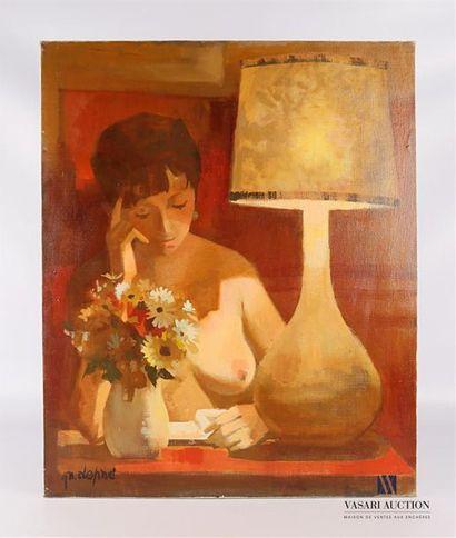 DEPRE Marcel (1919-1990) Nu à la lampe Huile...