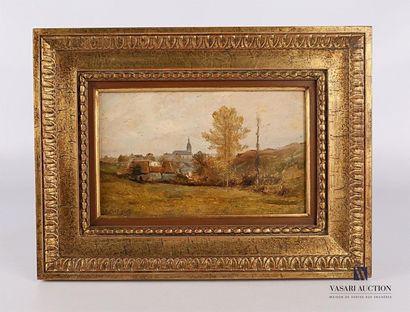 Ecole française du XIXème siècle Vue de village...