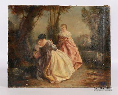 Ecole française du XIXèe siècle Jeunes femmes...