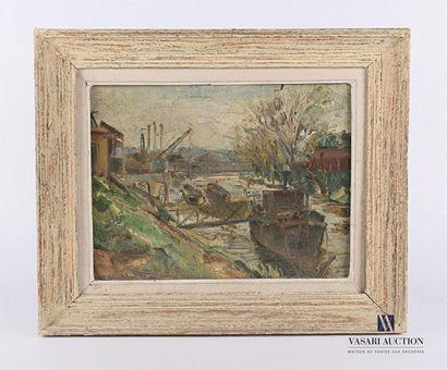 J. BUCHLAD? (XXème siècle) Bord de Seine...