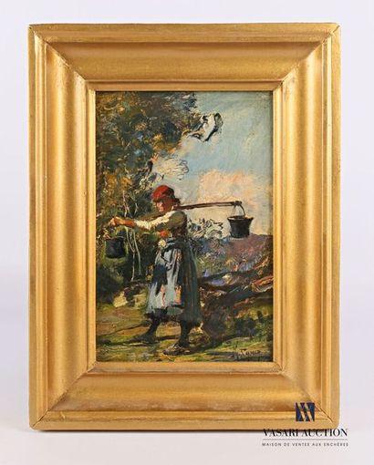 JAMIA M. (XXème siècle) La porteuse d'eau...