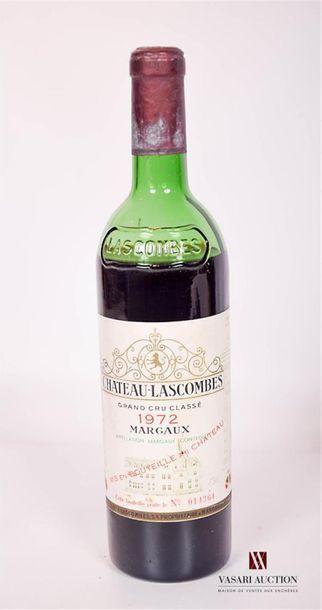 1 bouteilleChâteau LASCOMBESMargaux GCC1972...
