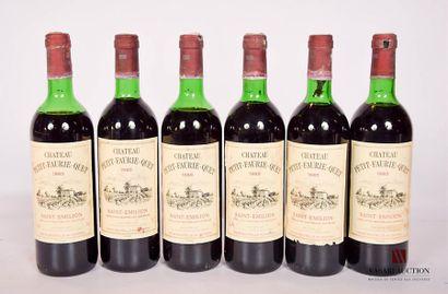 6 bouteillesChâteau PETIT-FAURIE-QUETSt...