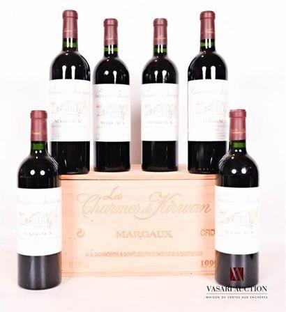 6 bouteillesLES CHARMES DE KIRWANMargaux1999...