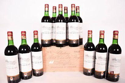 12 bouteillesChâteau PETIT CLOS DU ROYMontagne...