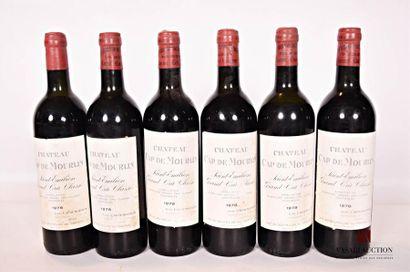 6 bouteillesChâteau CAP DE MOURLINSt Emilion...
