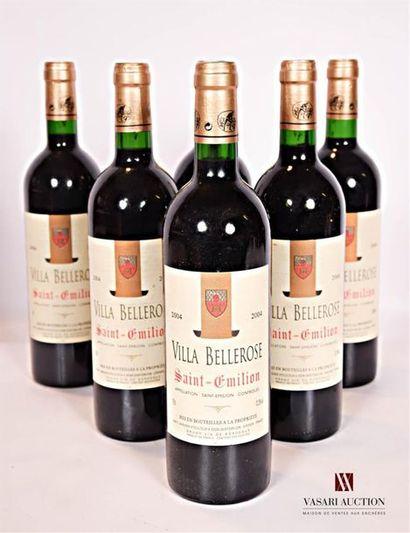 6 bouteillesVILLA BELLEROSESt Emilion2004...