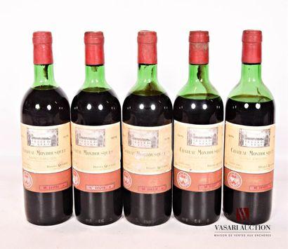 5 bouteillesChâteau MONBOUSQUETSt Emilion...
