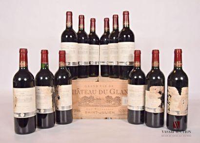 12 bouteillesChâteau DU GLANASt Julien...