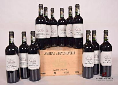 12 bouteillesAMIRAL DE BEYCHEVELLESt Julien2013...