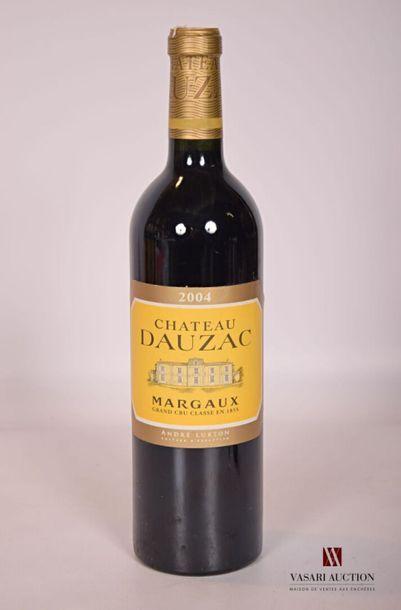 1 bouteilleChâteau DAUZACMargaux GCC2004...