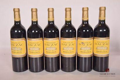 6 bouteillesChâteau DAUZACMargaux GCC2004...