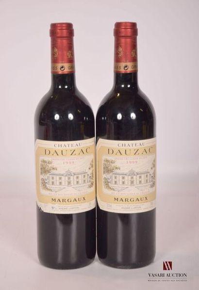 2 bouteillesChâteau DAUZACMargaux GCC1999...