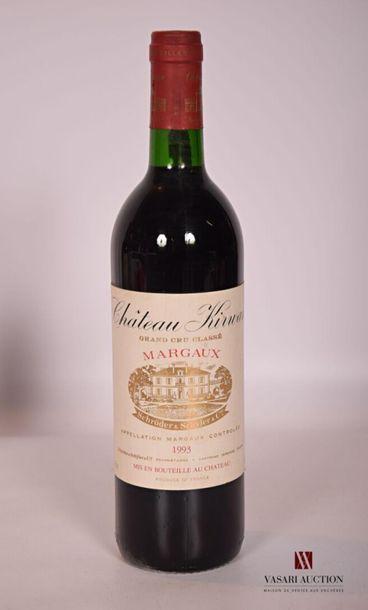 1 bouteilleChâteau KIRWANMargaux GCC1993...