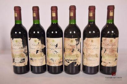 6 bouteillesChâteau PRIEURÉ LICHINEMargaux...