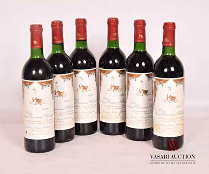6 bouteillesChâteau MOUTON BARONNE PHILIPPEPauillac...