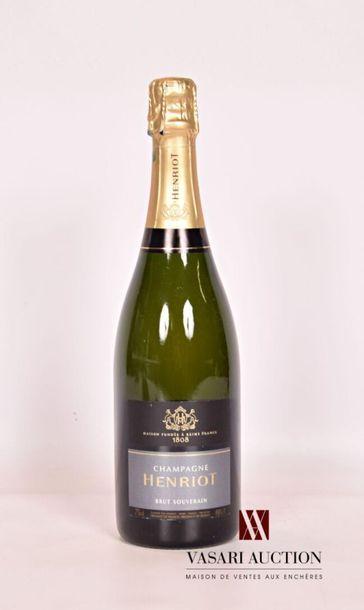 1 bouteilleChampagne HENRIOT Brut SouverainNM...