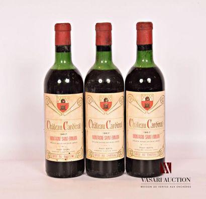 3 bouteillesChâteau CARDINALMontagne St...