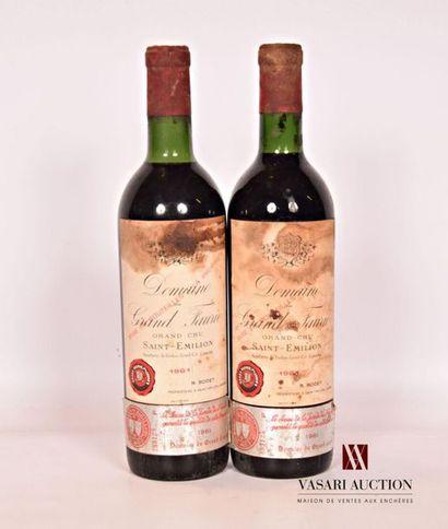 2 bouteillesDOMAINE DU GRAND FAURIESt Emilion...