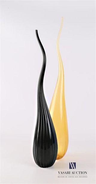 SALVIATI Deux vases soliflore modèle Aria...