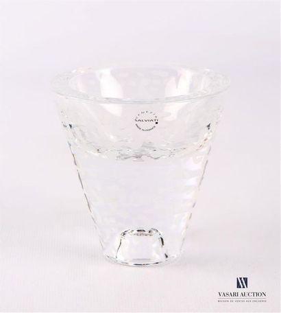 SALVIATI Bougeoir en verre de forme conique...